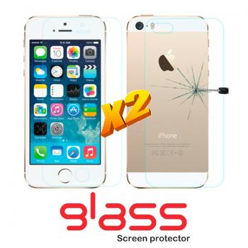 Pellicole vetro temperato iPhone SE Front + Back