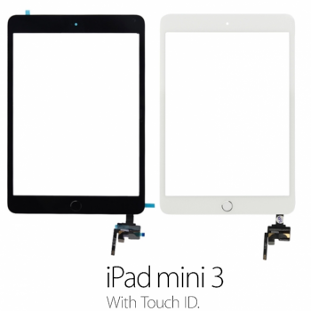 Touch screen iPad mini 3 completo di tasto home **Touch ID